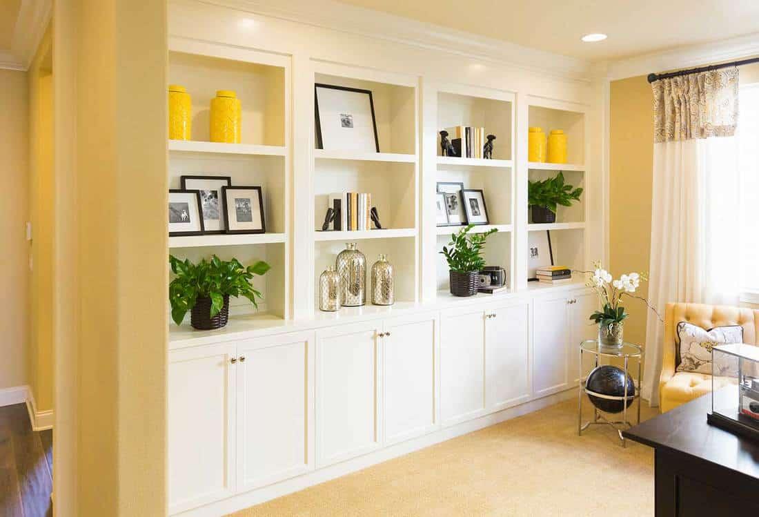 Beautiful custom shelves and cabinet built-in interior
