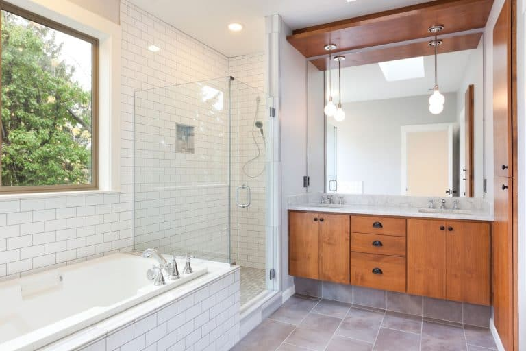 Beautifully designed contemporary bathroom, How To Clean Bathroom Cabinets Before Painting Them