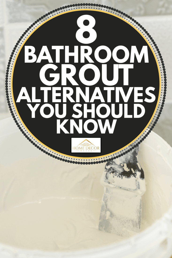 Bucket of two-component, decorative, acid resistant epoxy grout for tile joints. 8 Bathroom Grout Alternatives You Should Know