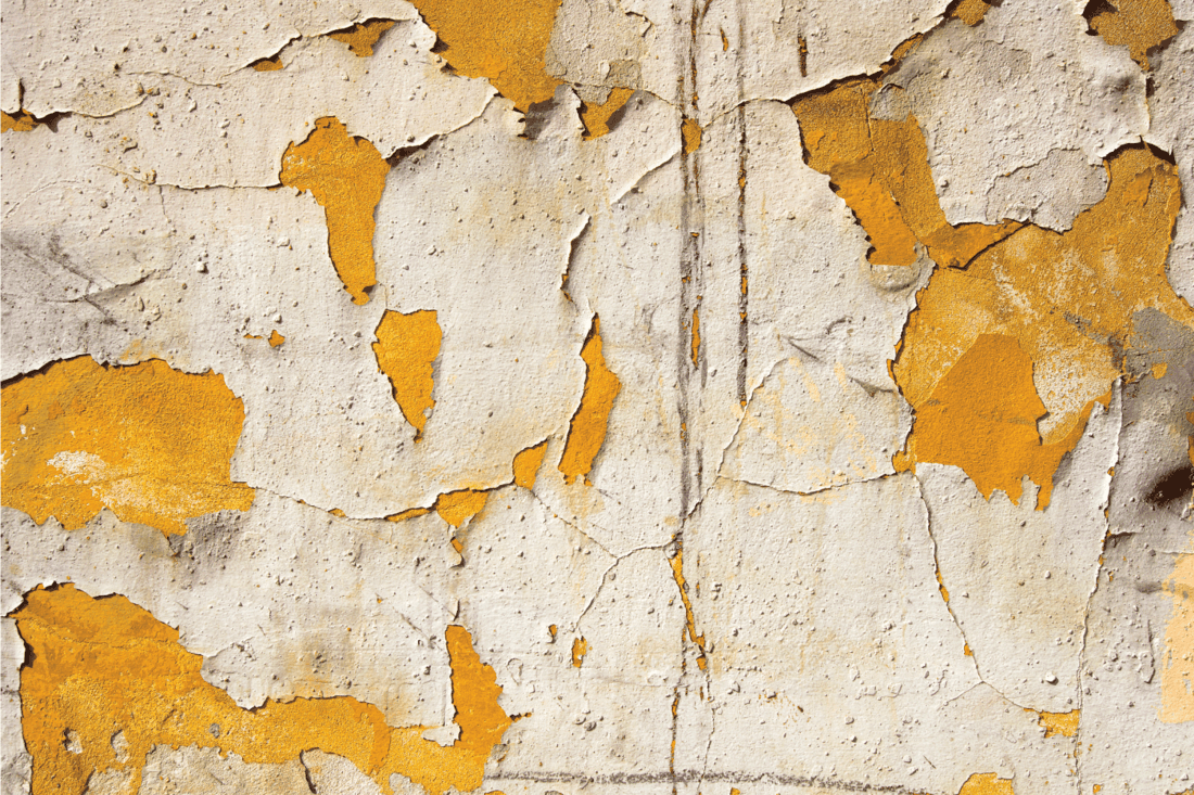 Cracked paint on Concrete Vintage Wall