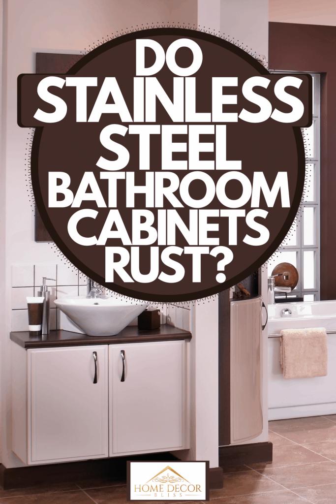 Interior of an ultra modern bathroom, Do Stainless Steel Bathroom Cabinets Rust?