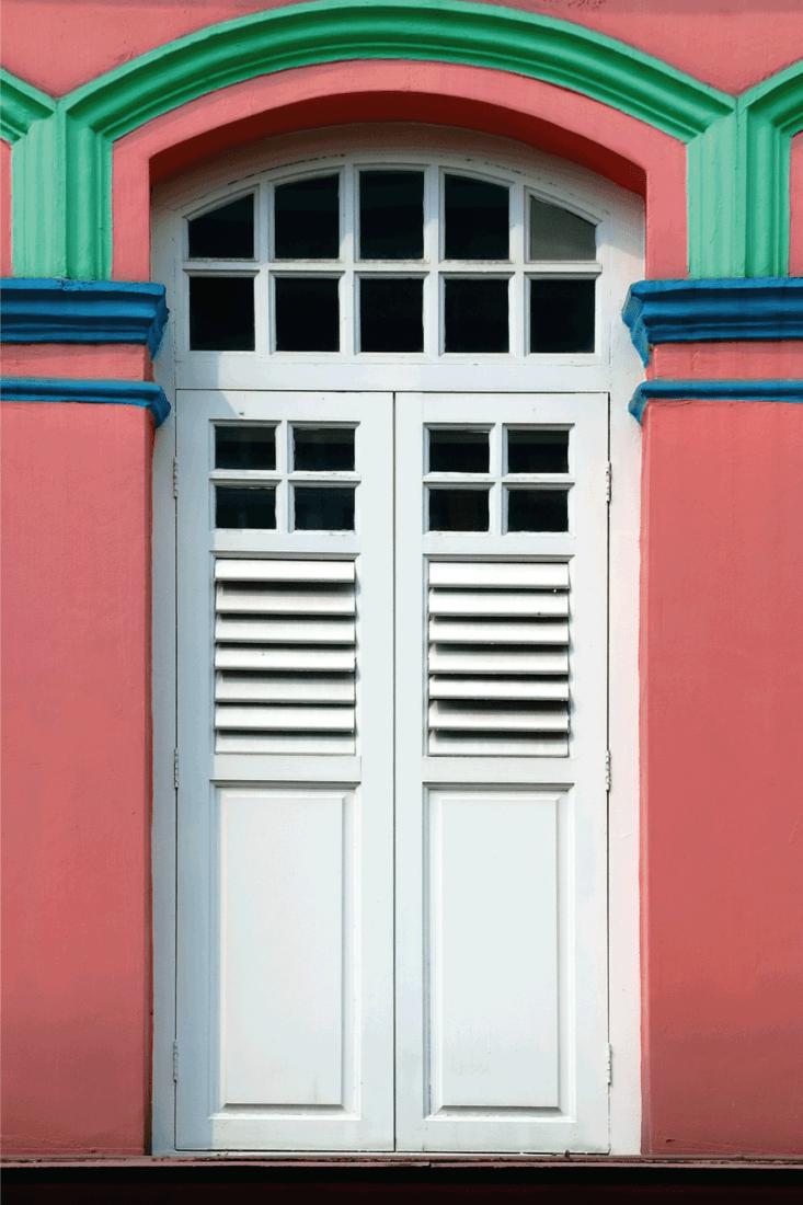 Doors in Chinatown. louvered doors
