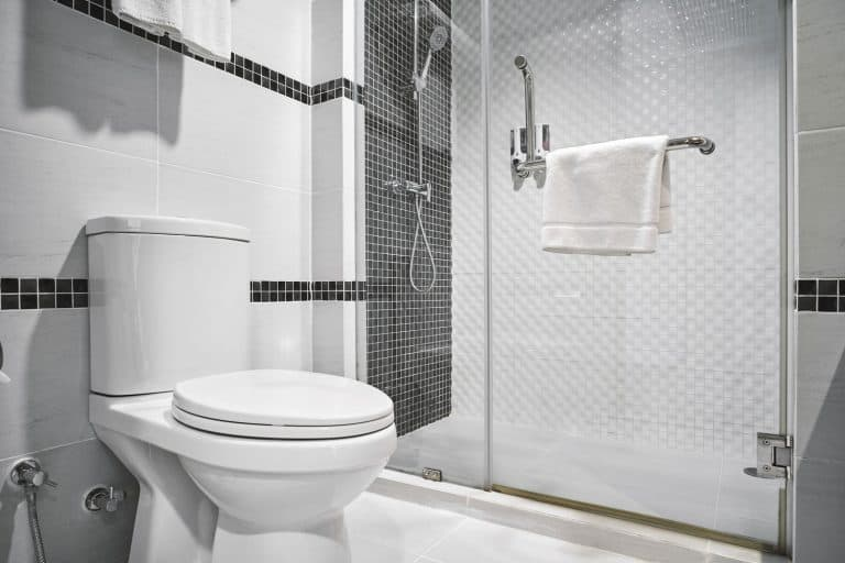 Interior of a modern bathroom with a contemporary design, Does A Toilet Have To Be Against A Wall?