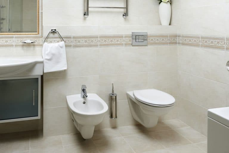 Large bathroom with toilet bowl an a bidet, Can You Add A Bidet To An Existing Toilet? [And How To Do So!]