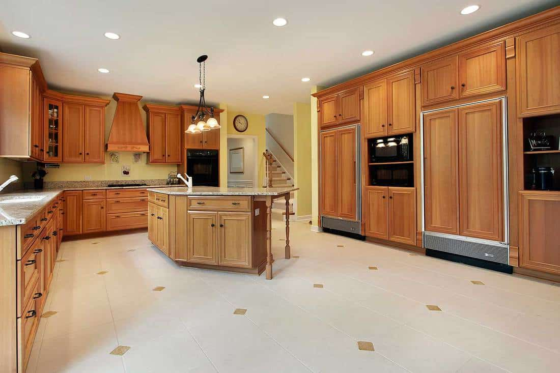 Large kitchen in luxury home