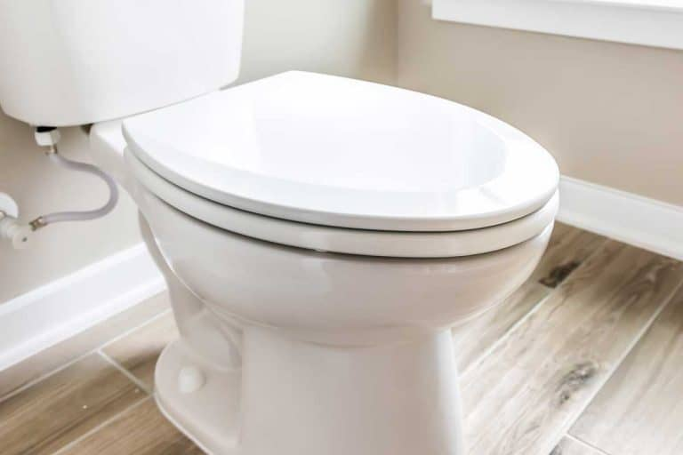 Minimalist modern clean white toilet in restroom with window in model house, How Much Does A Toilet Weigh? [Including With Water]