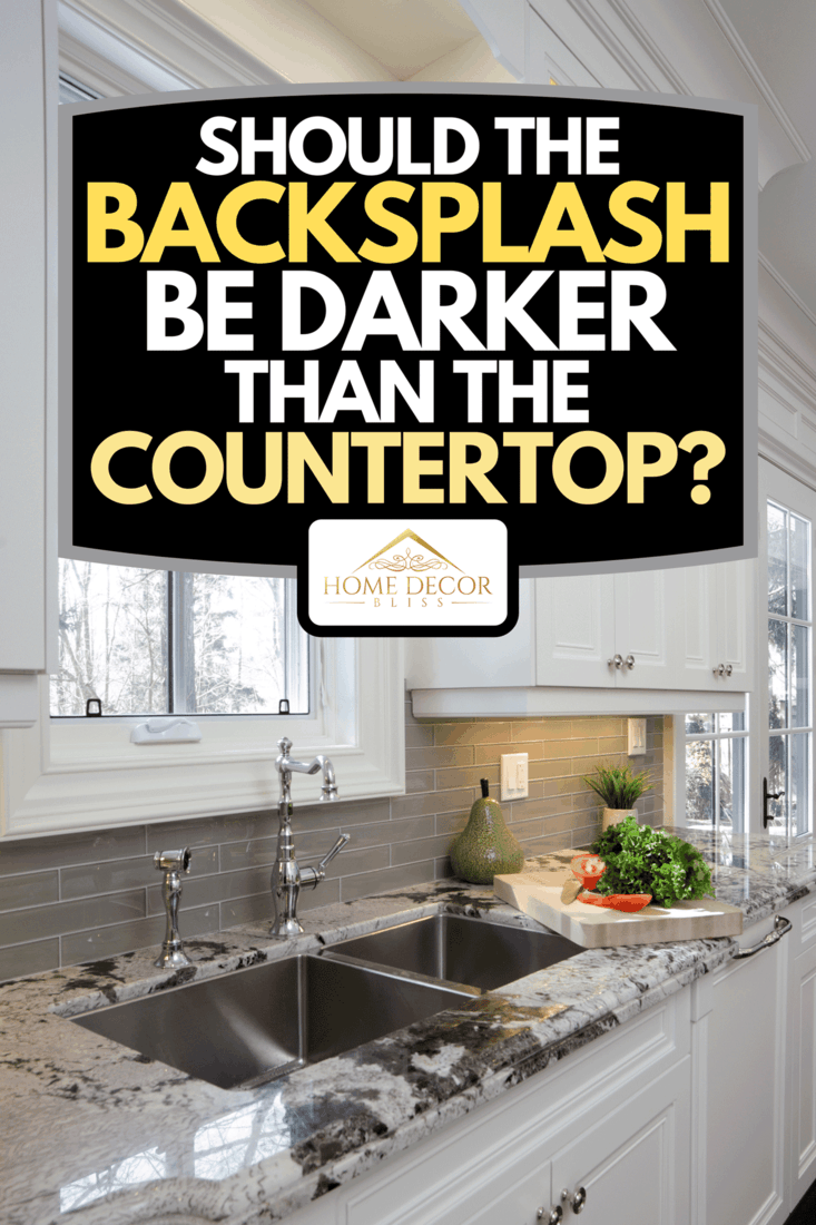 An interior of modern luxury kitchen with granite countertop, Should The Backsplash Be Darker Than The Countertop?
