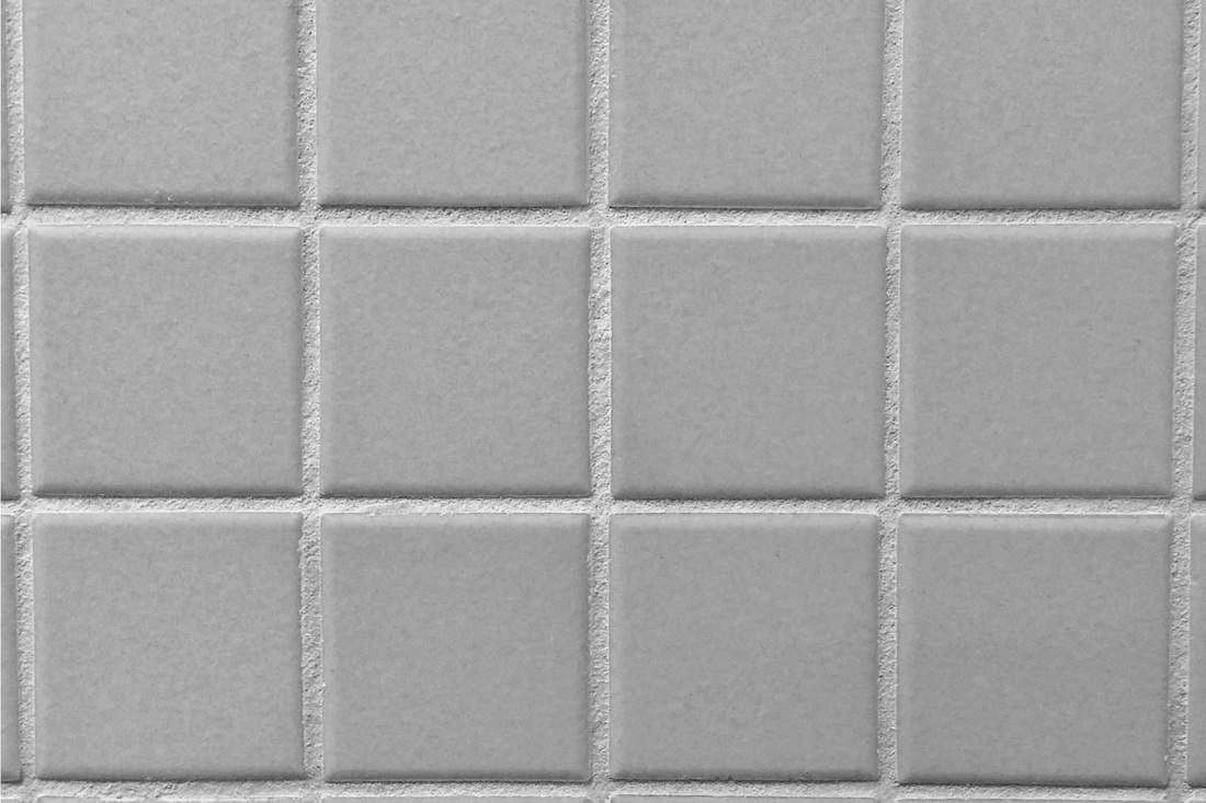 Square plain gray bathroom tiles wall sample
