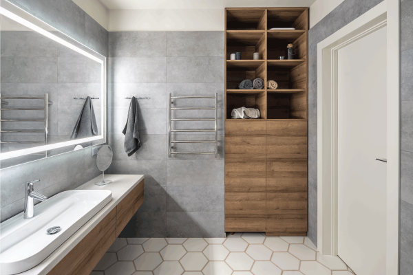 Read more about the article What Color Bathroom Cabinets With Gray Walls?