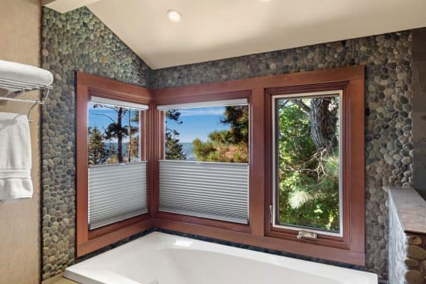 What Color Blinds Go With Brown Wood Window Trim?