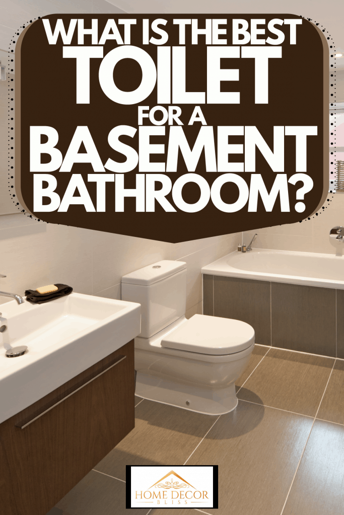 A small bathroom inside a modern basement with an elegant contemporary design, What Is The Best Toilet For A Basement Bathroom?