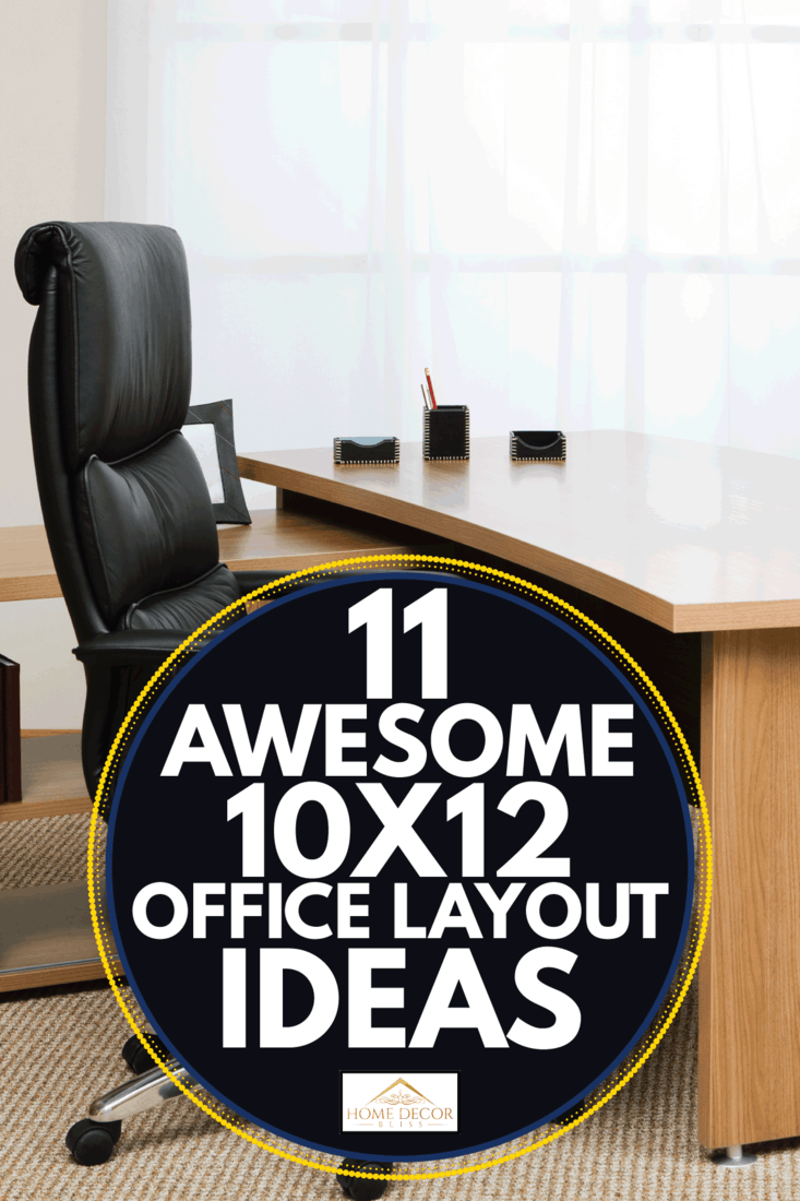 comfortable executive chair and desk on a carpeted office setting. 11 Awesome 10X12 Office Layout Ideas