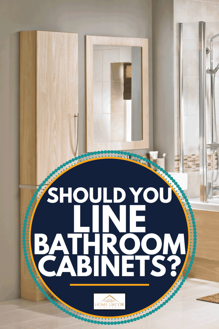 luxurious bathroom in wooden tone. Should You Line Bathroom Cabinets