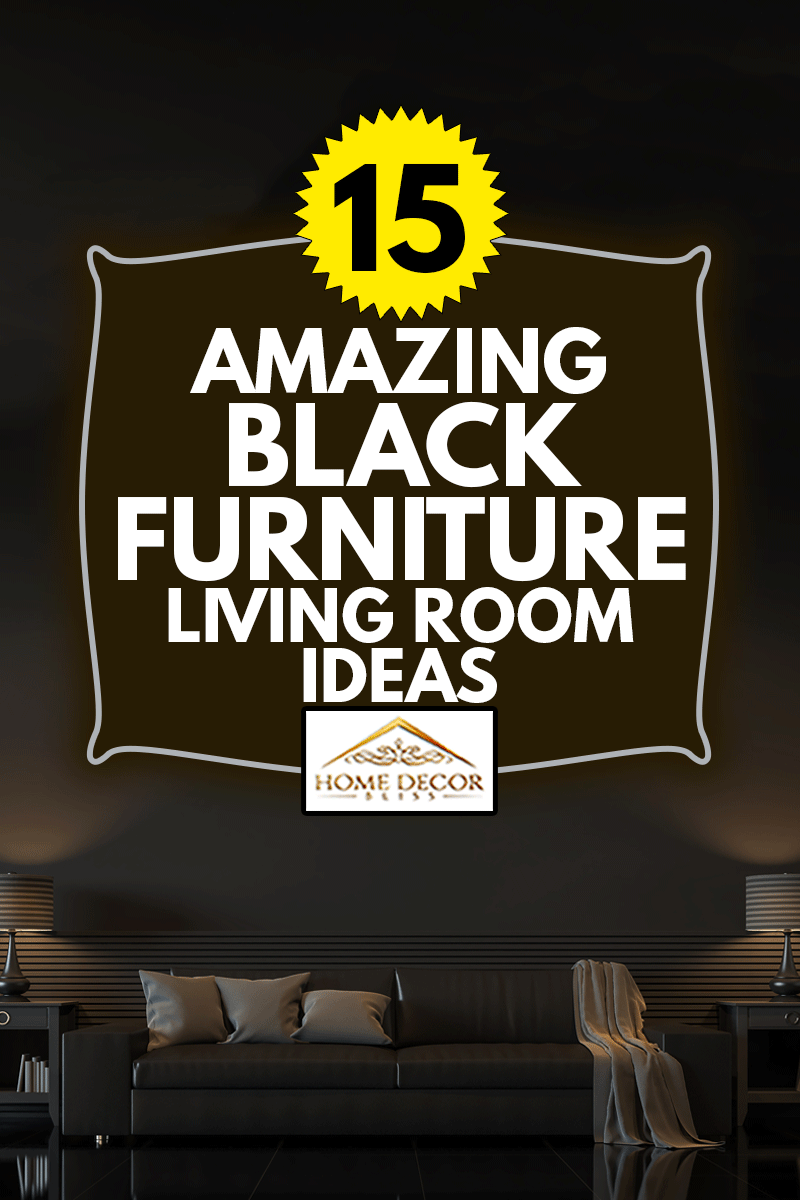 Modern living room interior with empty black wall 3d rendering image.There are minimalist style decorate room with black furniture,floor,wall, 15 Amazing Black Furniture Living Room Ideas