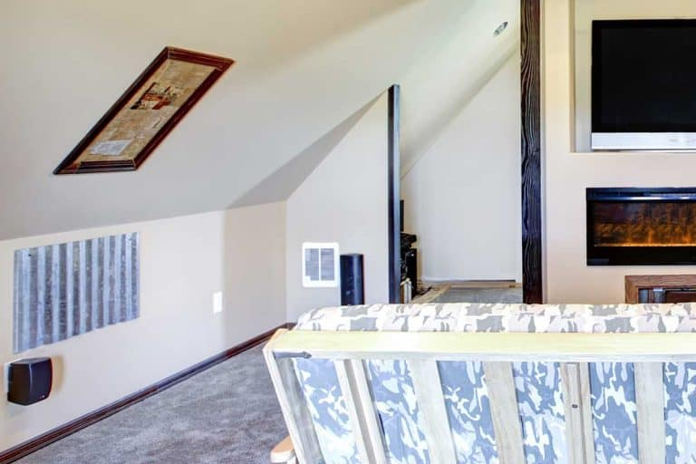 Chic attic living room with sloped ceiling, How To Hang A Picture On Sloped Ceilings And Walls