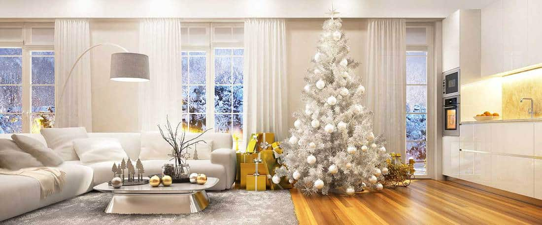 Christmas interior in a beautiful house
