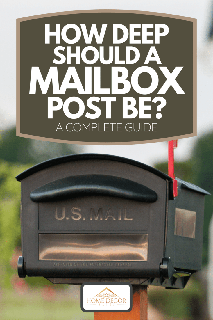 Mailbox outside of an American house, How Deep Should A Mailbox Post Be? [A Complete Guide]