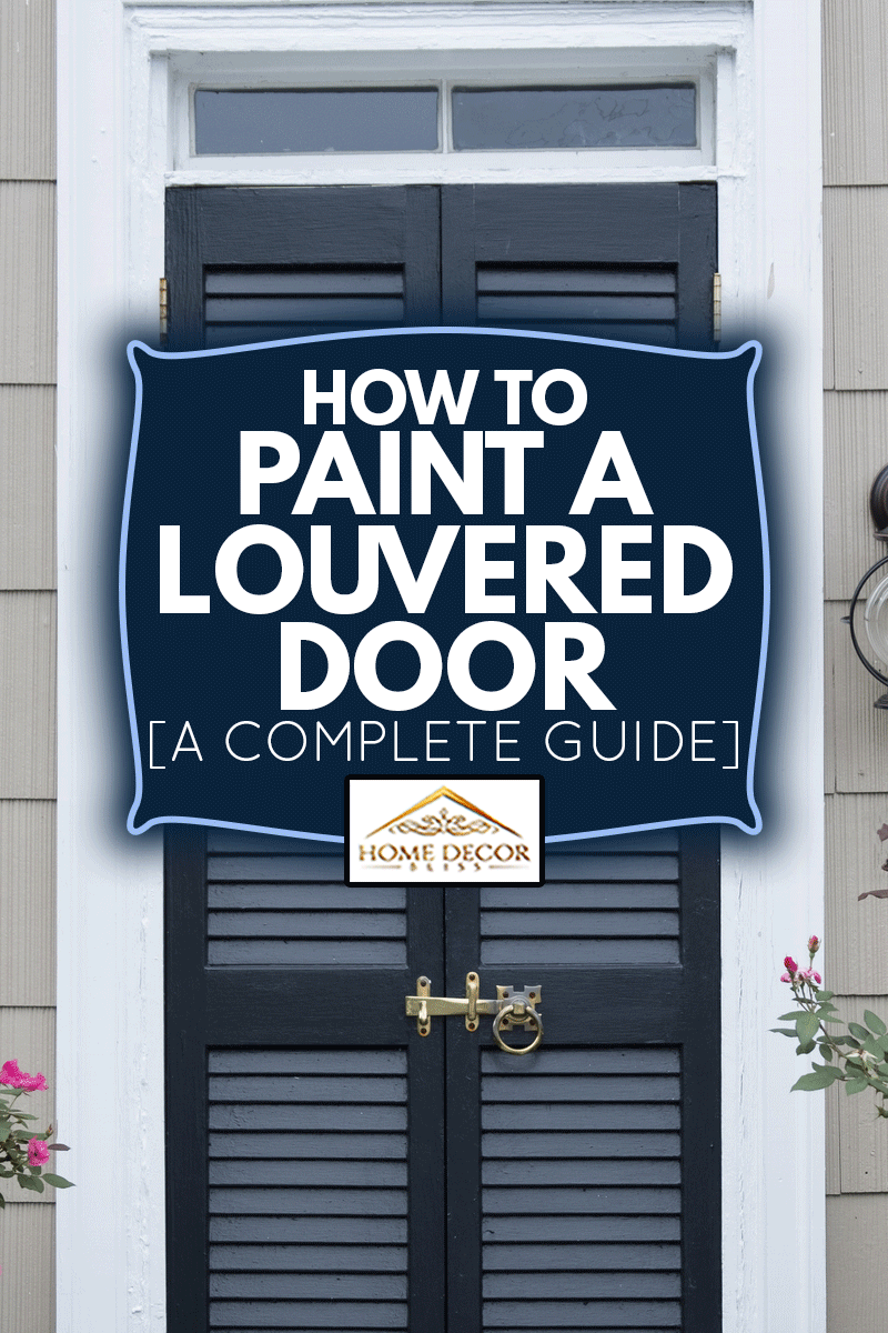 A louvered blue front door in St. Michael's, Maryland, How To Paint A Louvered Door [A Complete Guide]