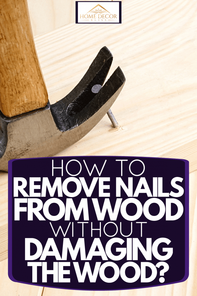A hammer being used to remove a nail on a piece of wood, How To Remove Nails From Wood - Without Damaging The Wood