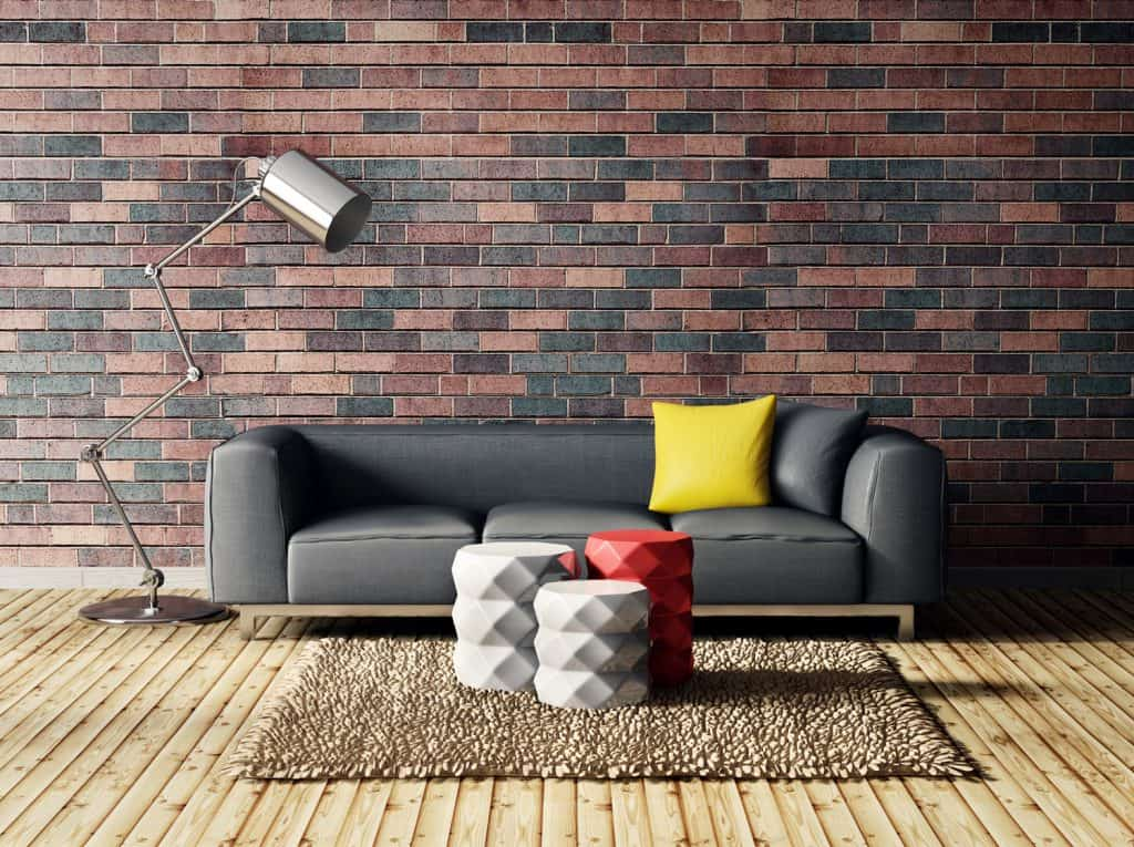 Modern dark interior with varying textures
