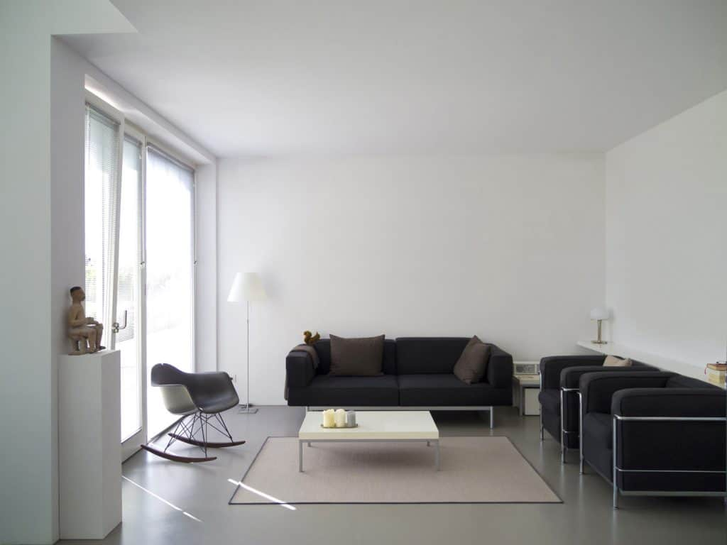 Modern interior with copy space