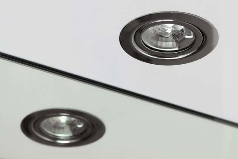 Recessed halogen lamp and reflection in the washbasin mirror, Can You Install Recessed Lighting Without Housing?