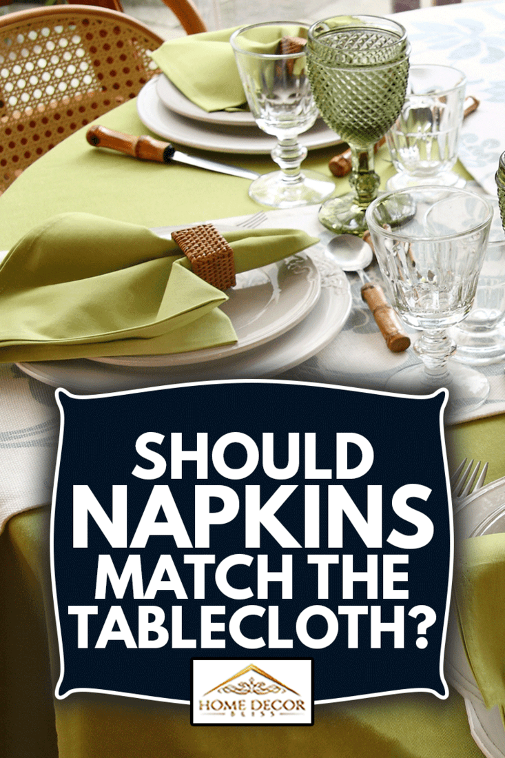 tables assembled with sophisticated dishes, cutlery, glasses and flowers, Should Napkins Match The Tablecloth?