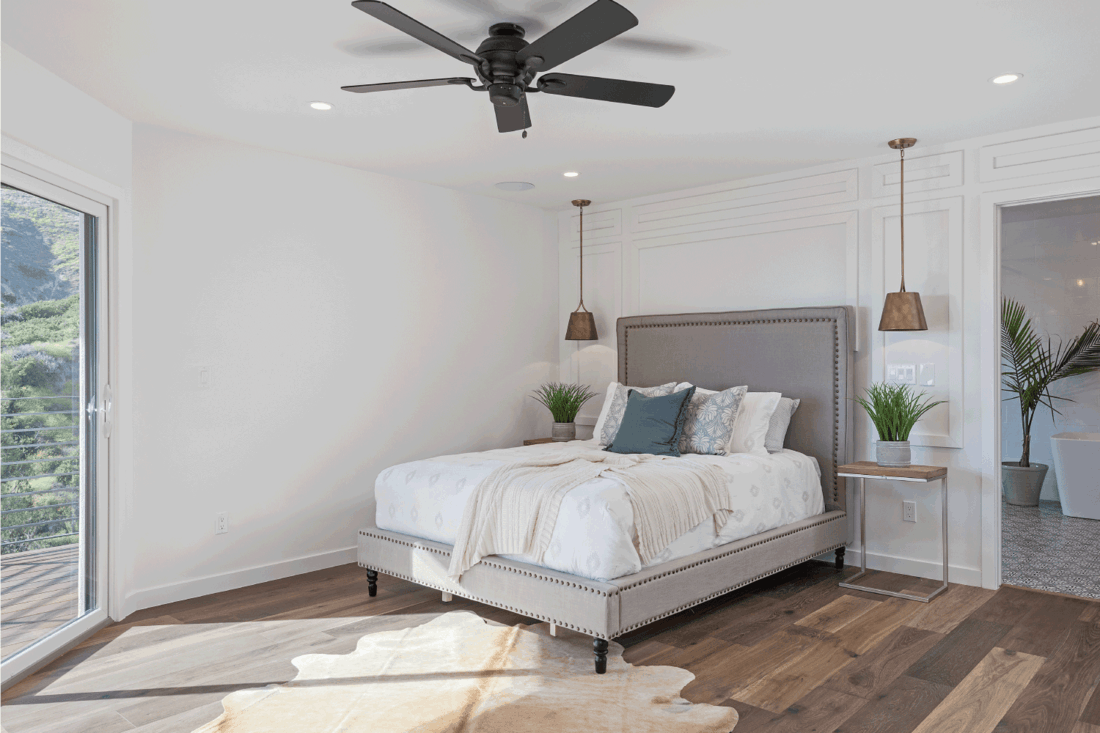 modern looking master bedroom with Simple Ambient Lighting
