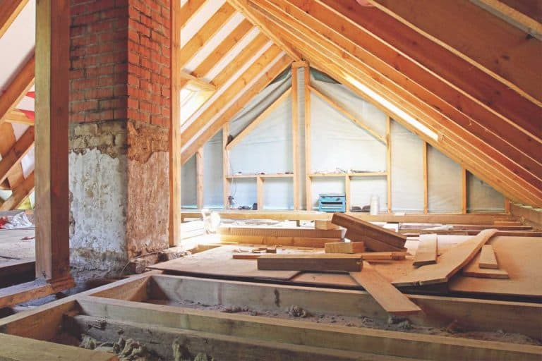 An interior view of a house attic under construction, How To Tell Which Way Floor And Ceiling Joists Run