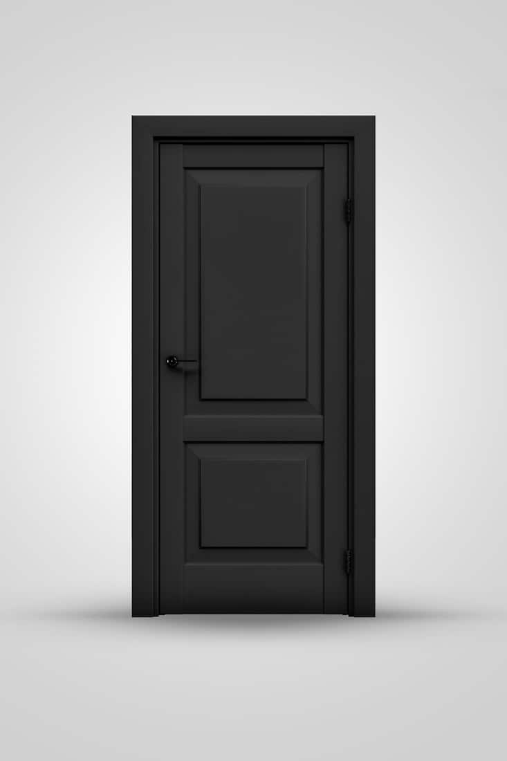 Black On Black Doorknobs