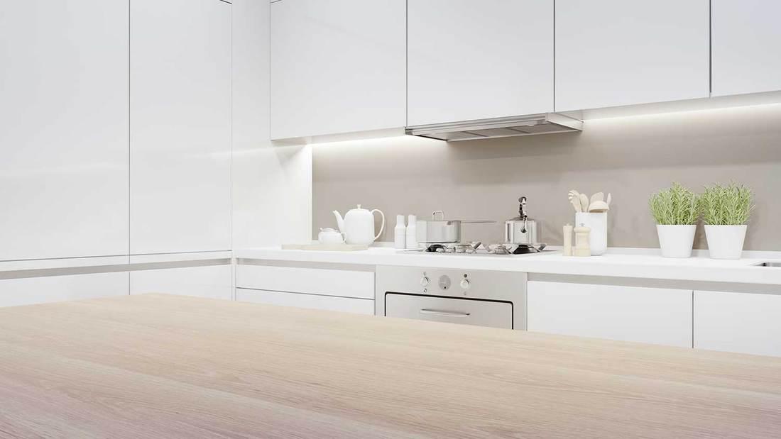 Cabinet of modern kitchen in luxury house