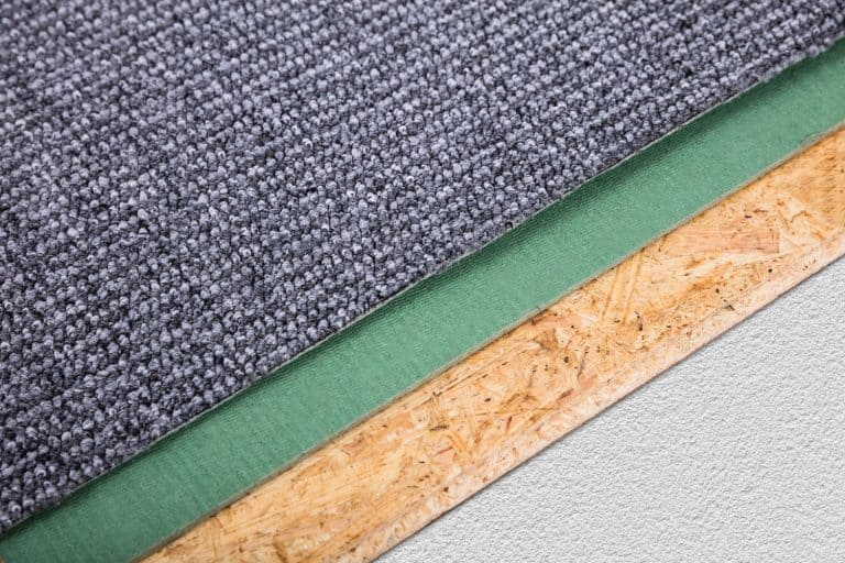 Different colored carpet paddings laid on the floor, How To Remove Carpet Padding From Concrete