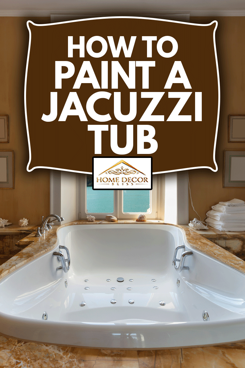 Interior of a luxury mansion, beautiful bathroom with hot tub, How To Paint A Jacuzzi Tub