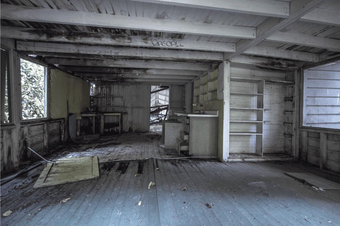 Interior Of Abandoned Smoky Mountain Vacation Home