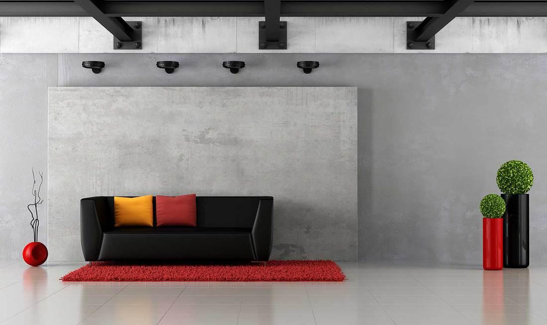 Modern grunge living room
