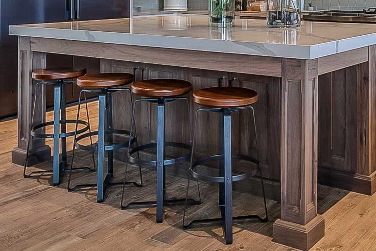 Stunning custom kitchen with island and bar stools, How To Make Kitchen Chairs Into Bar Stools
