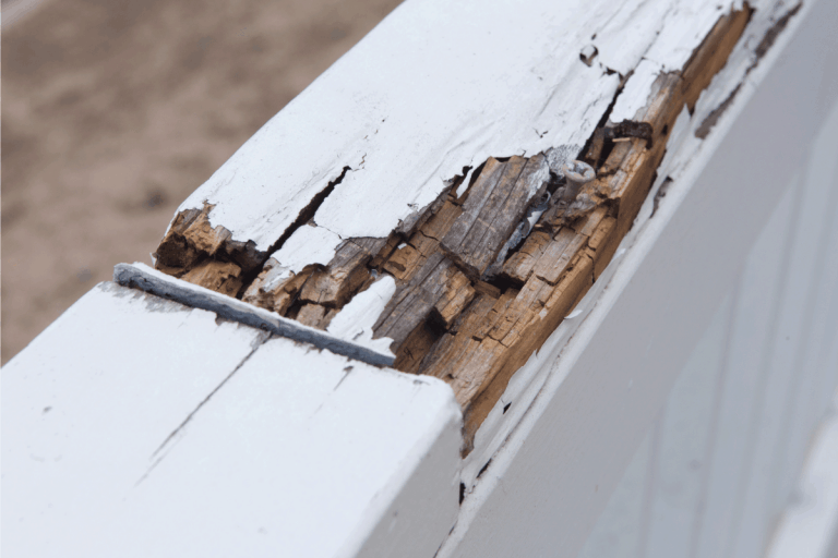 rotten wood on a porch railing. Does Wood Rot Spread