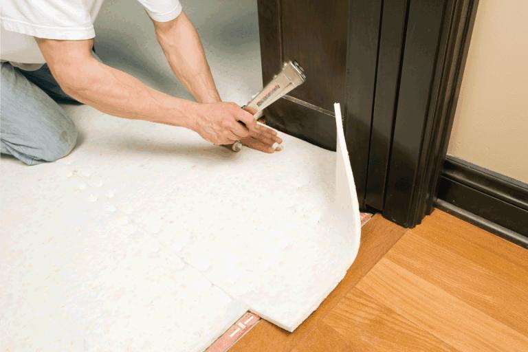 Carpet Installer Stapling Pad to Subfloor. What Kind Of Stapler Do You Use For Carpet