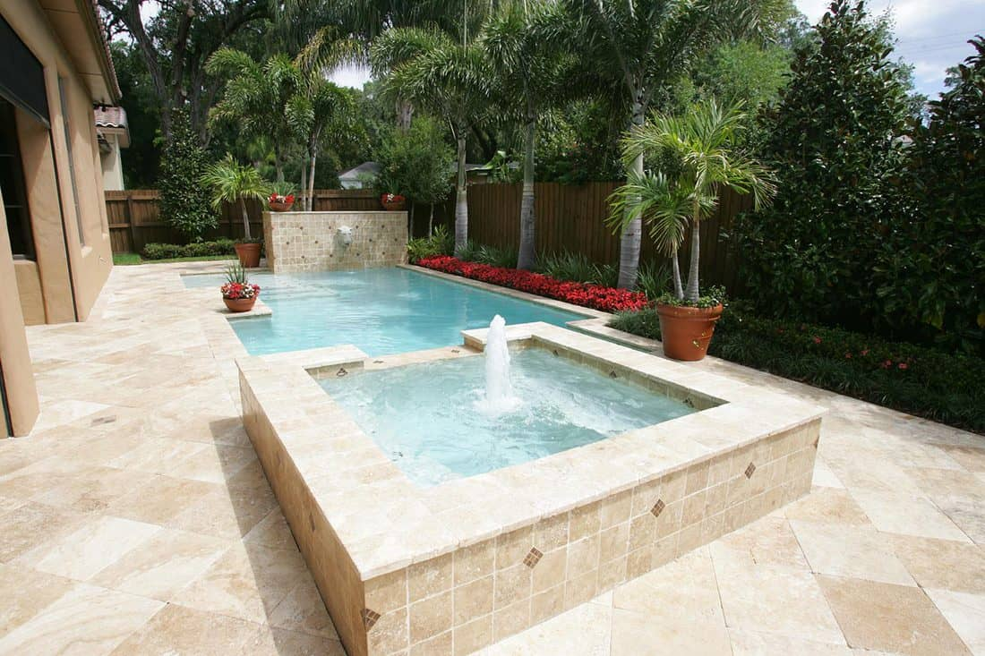 Elegant pool and garden