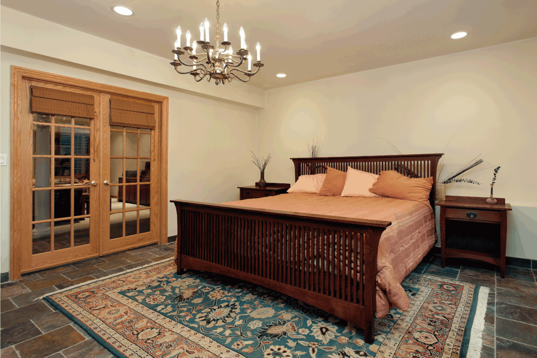 Guest room with French doors