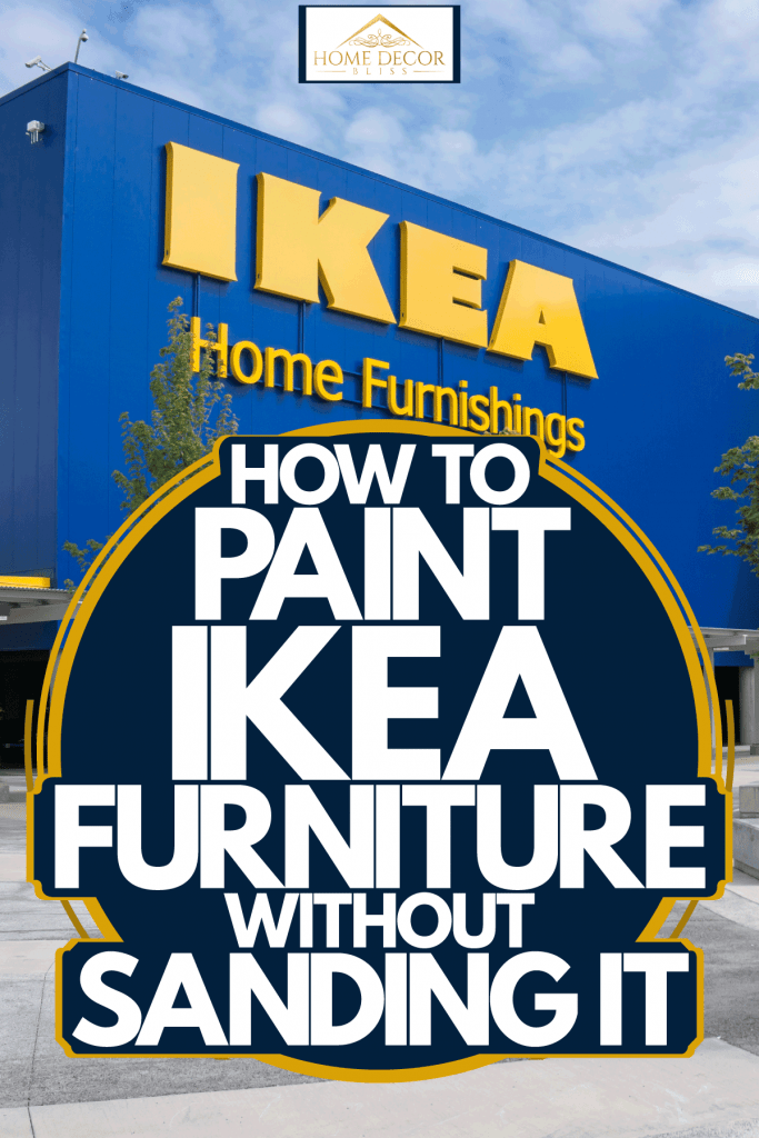 Ikea Home Furnishing photographed outside, How To Paint Ikea Furniture Without Sanding It