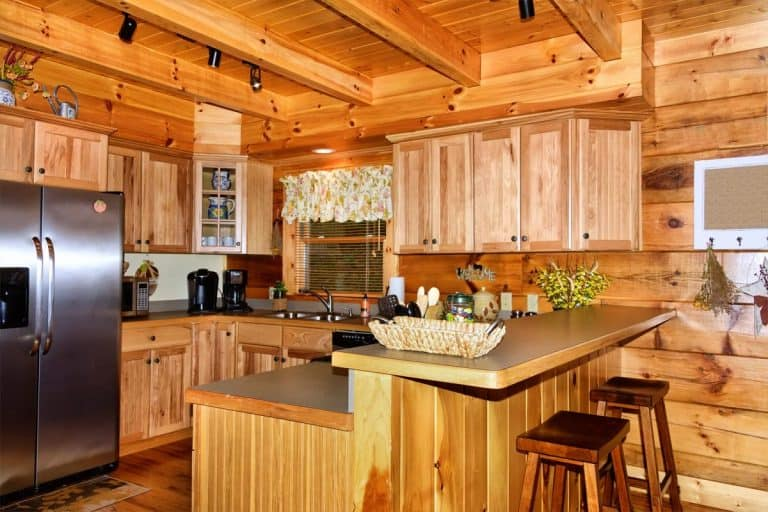Kitchen with knotty pine walls, What Color Kitchen Cabinets Go With Knotty Pine Walls?