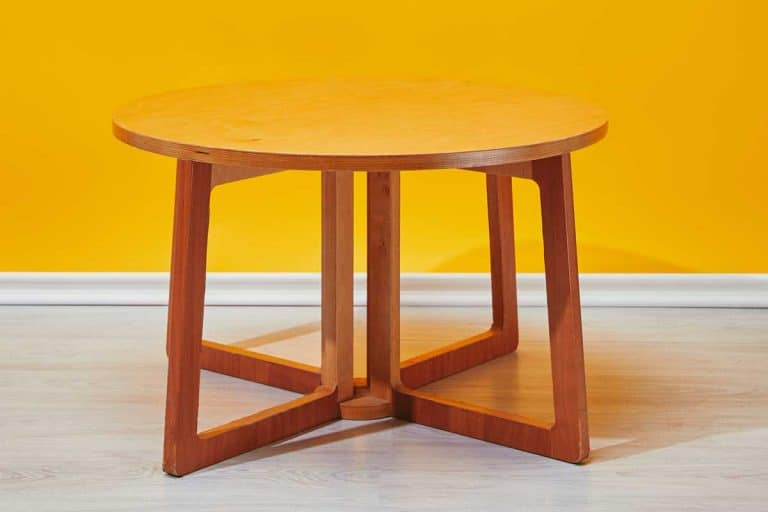 Little wooden coffee table with yellow wall at background, How To Make Legs For A Coffee Table