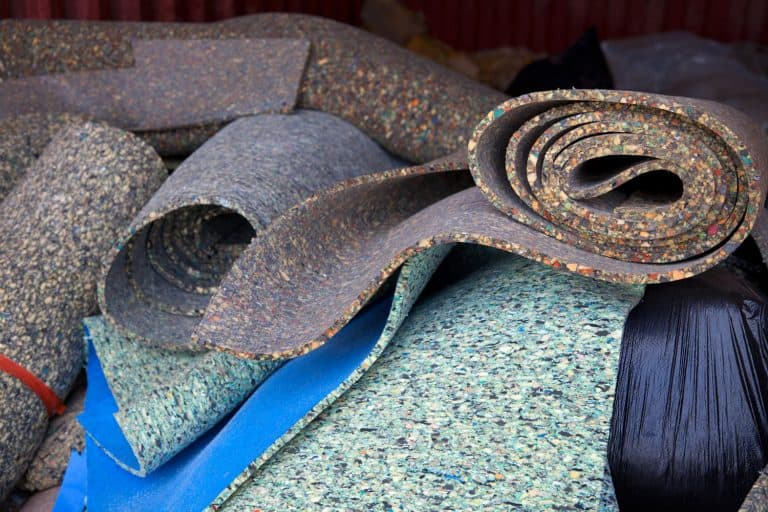 Load of carpet paddings to be recycled, How Big Is A Roll Of Carpet Padding?