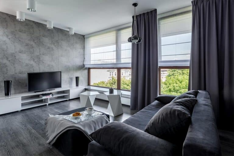 Modern living room with black couch, 15 Awesome Black Couch Living Room Ideas