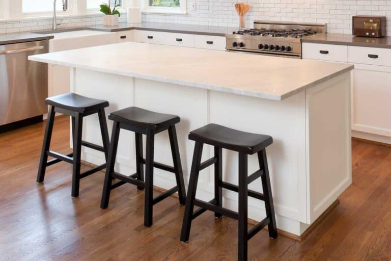 New kitchen in modern luxury home with island, How To Secure A Kitchen Island To The Floor