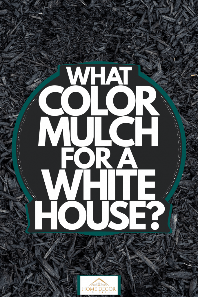 Gray mulch made out of charred tree bark, What Color Mulch For A White House?