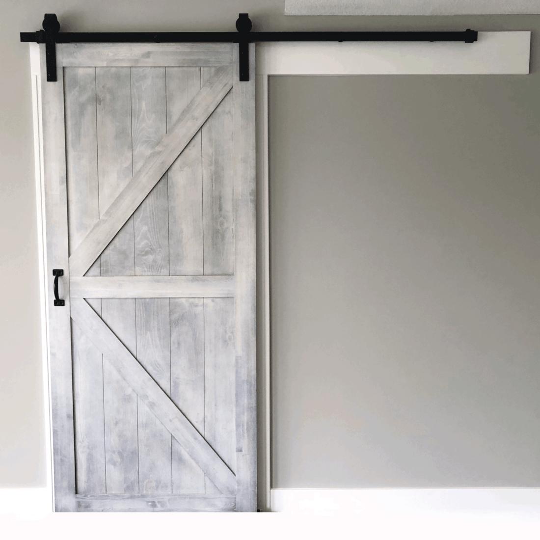 Whitewashed Barn Door