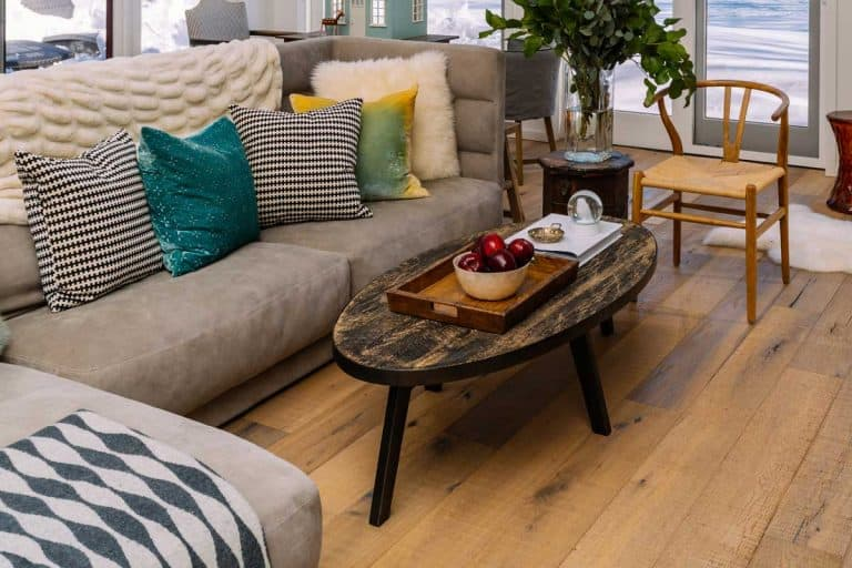 Winter home with wooden floor and furnitures, How To Keep Furniture From Sliding On Hardwood Floor [8 Solutions To Try!]