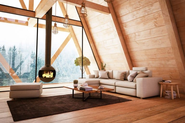 Wooden Interior with Funiture and Fireplace, How To Find Floor Joists Under Hardwood [Various Methods To Try]